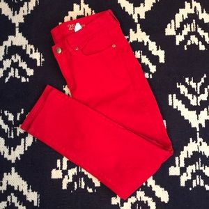 ❤️J CREW RED Toothpick Jeans❤️